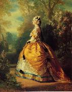 Franz Xaver Winterhalter The Empress Eugenie a la Marie-Antoinette oil